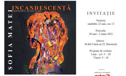"""expoziția de pictură, """"Incandescență"""", a tinerei artiste Sofia Matei (11 ani) @ Biblioteca Națională a României"""