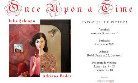 """Expoziția de pictură """"Once Upon a Time"""", Adriana Badea și Iulia Șchiopu @ Sala Pergament a Bibliotecii Naționale a României"""