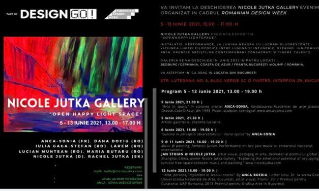 """Deschiderea Galeriei """"Nicole Jutka"""" din București în cadrul Romanian Design Week"""