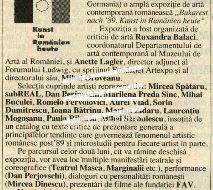 """""""Bukarest nach '89: Kunst in Rumänien heute"""" @ Ludwig Forum für Internationale Kunst, Aachen, Germania"""