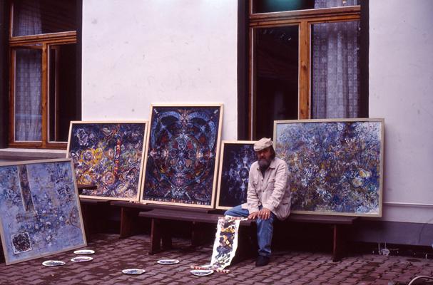 Ciprian Radovan în Germania în 1993, în tabăra de creație de la Gera