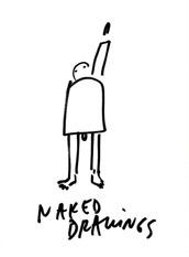 "Dan Perjovschi ""Naked Drawings"" @ Ludwig Museum, Köln 2005"