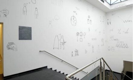 Dan Perjovschi – wall drawings. Solo exhibition at Van Abbemuseum