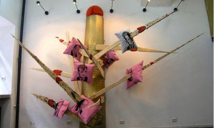 "DUMITRU GORZO ""MR. PRESIDENT IS A SEXUAL OBJECT"", instalatie  @ HT003 Gallery, București"