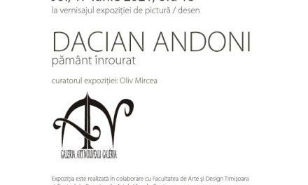 """Dacian Andoni """"Pământ înrourat"""" @ Galeria Art Nouveau, Târgu Mureș"""