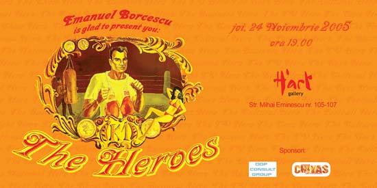 """Emanuel Borcescu """"The Heroes""""– expoziție de pictură @ H'ART GALLERY, București"""