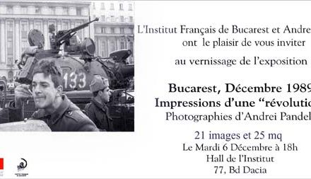 """Expoziția de fotografie Andrei Pandele """"Revolutzia"""" din decembrie 1989 @ Institutul Francez, București"""