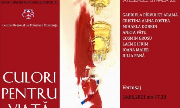 """expozitia de pictura a Grupului""""Strada 22"""" @ Centrul Regional de Transfuzii, Constanta"""