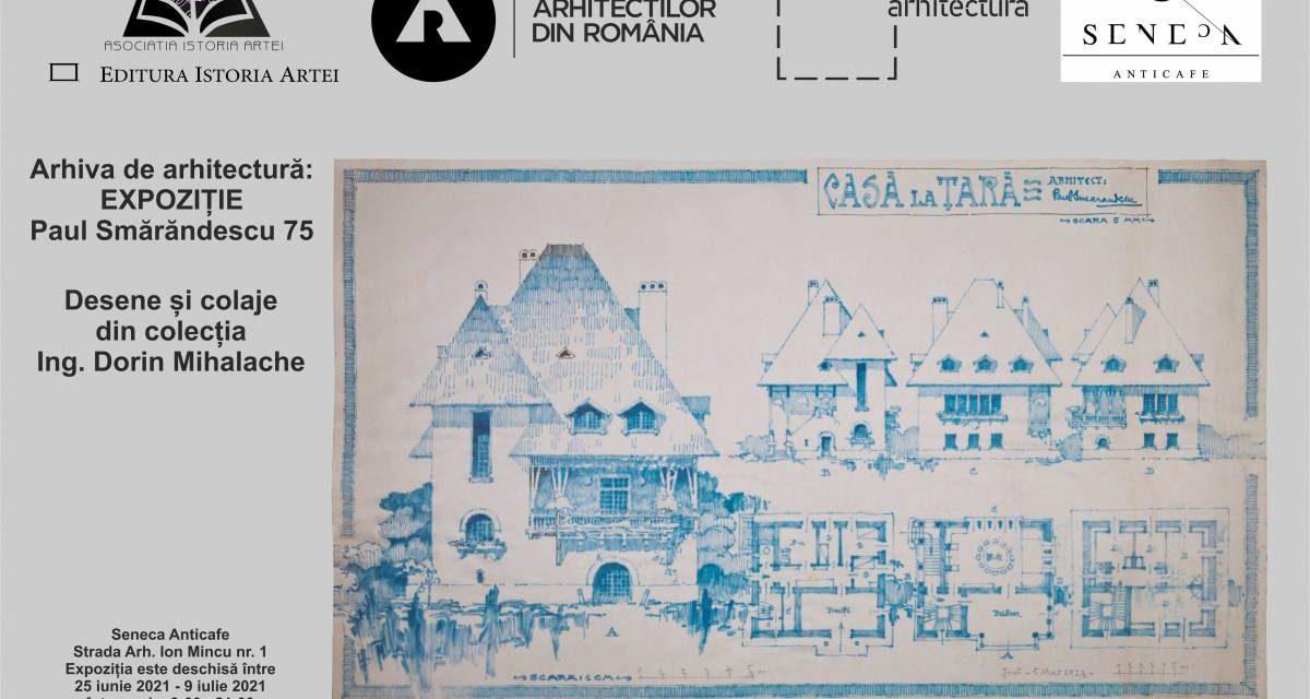 Expoziție desene și colaje ale arh. Paul Smărăndescu (1881-1945) @ Librăria Seneca Anticafe, București