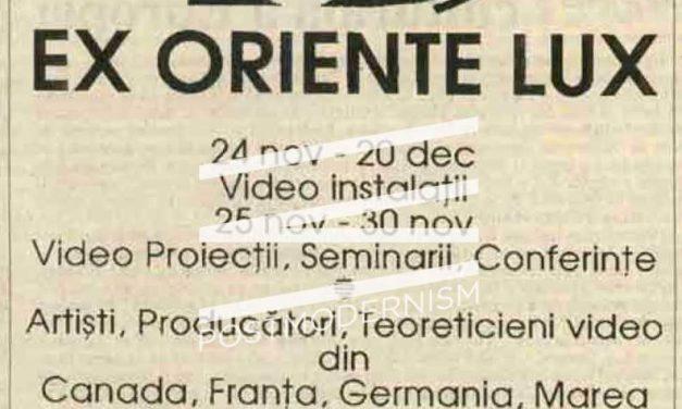 Ex Oriente Lux, Video instalaţii la Sălile Dalles, București