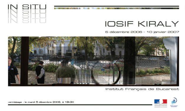 """Iosif Kiraly """"Reconstructii"""" @ Institutul Francez din Bucuresti"""