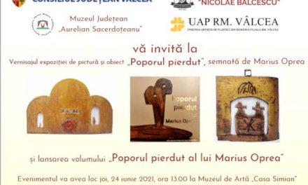 """Expoziția de pictură și obiect """"Poporul pierdut"""", semnată de Marius Oprea @ Muzeul de Artă """"Casa Simian"""", Râmnicu-Vâlcea"""