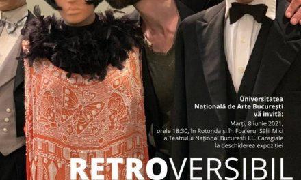 """Expoziția""""RETROVERSIBIL""""aDepartamentului Modă de la UNArte înRotonda și în Foaierul Sălii Mici a TNB"""