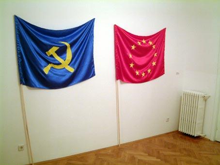 """Expoziția """"Vlad Nanca trăiește și lucrează în București"""" galeria 2020, București"""