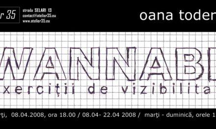 "Oana Toderica ""Wannabe. Exercitii de vizibilitate"" @ Atelier 35, Bucuresti"