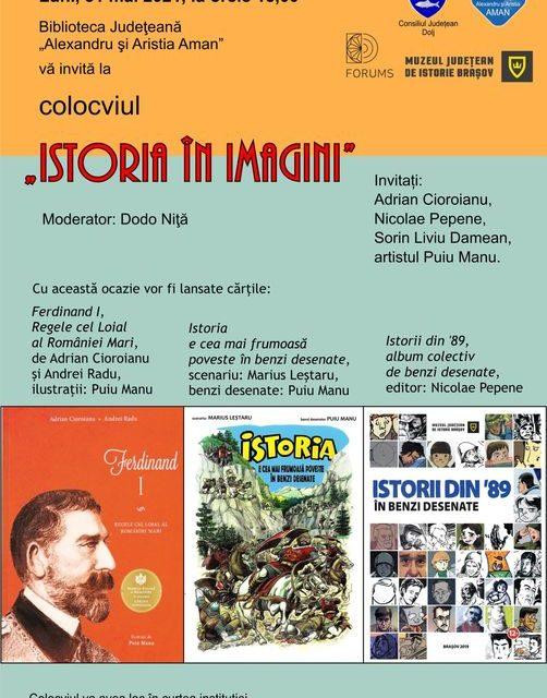 """colocviul """"Istoria în imagini"""" @ Biblioteca Județeană """"Alexandru și Aristia Aman"""", Craiova"""