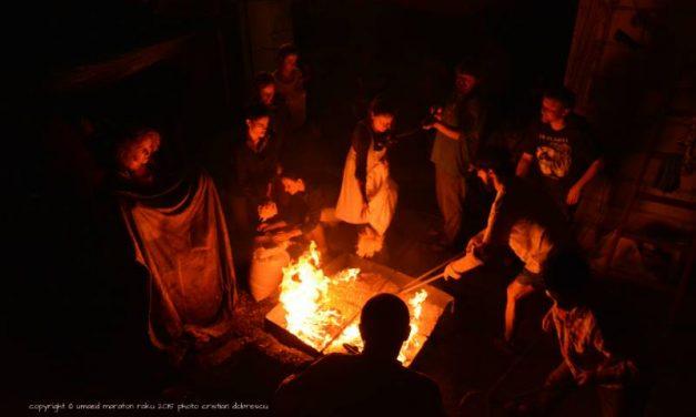 ardere ceramică Raku în cadrulNopții Muzeelor 2021 @ Comana