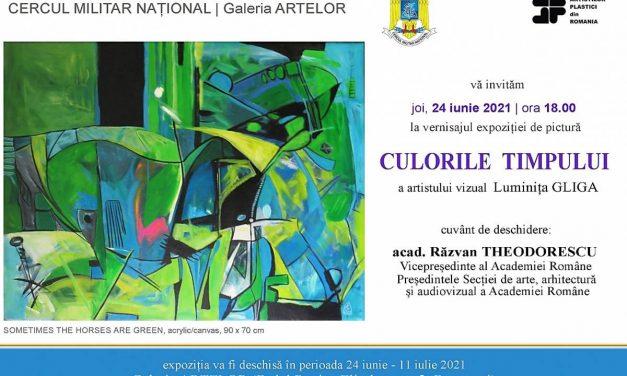 """Luminița GLIGA """"CULORILE TIMPULUI"""" @ Galeria ARTELOR, Cercul Militar Național"""