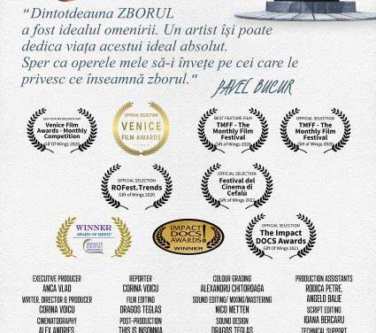 """Premiera naţională a filmului documentar """"DARUL ARIPILOR"""" s-a bucurat de un mare succes"""