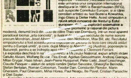 """Expoziția internațională de pictură """"Rezultate concrete"""" la Muzeul Național de Artă"""