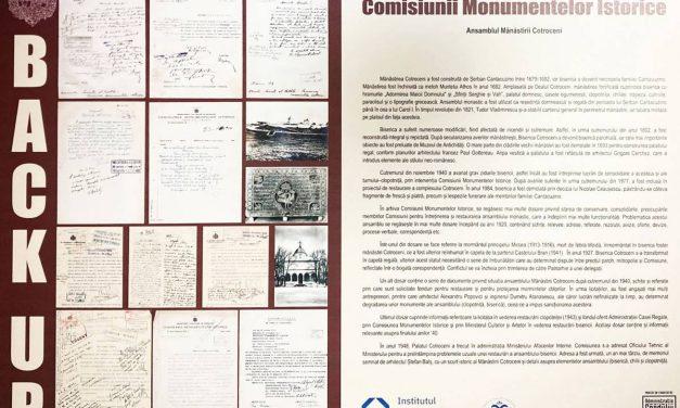 Expoziția Back-up: Valorificarea arhivei istorice a Comisiunii Monumentelor Istorice la Muzeul Național Cotroceni