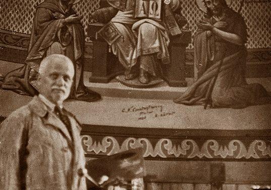 Pictorul Costica N.Constantinescu (1882-1944) în anul 1926