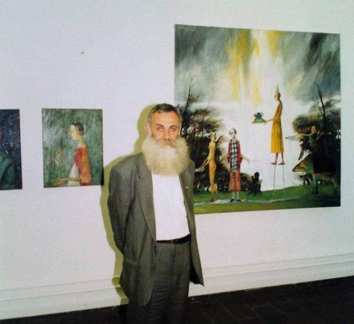 Ștefan Câlția, Sorin Ilfoveanu, Nicolae Alexi, Ion Iancuț în expoziția de artă românească de la Konsthallen, Göteborg, Suedia, 1995