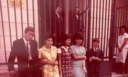 Valentin Ceaușescu, Anca Răutu, Lena Răutu, Zoia Ceaușescu, Nicu Ceaușescu, Natalia Răutu, Cornel Burtică, Paris, iulie 1964