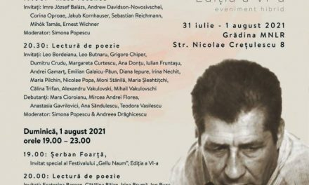 """Festivalul """"Gellu Naum"""", ediția a VI-a @ Muzeul Național al Literaturii Române din București"""