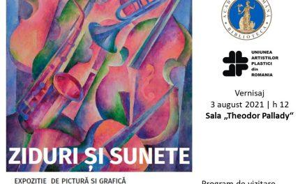 """Expoziția de grafică și pictură """"Ziduri și sunete"""" a pictoriței Marilena Murariu @ Biblioteca Academiei Române"""