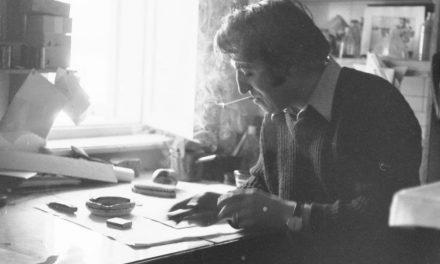 Graficianul George Leolea in atelier, anii `70
