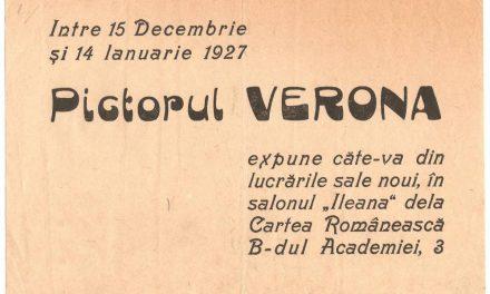 Afiș Expoziţie pictorul Verona, 1927