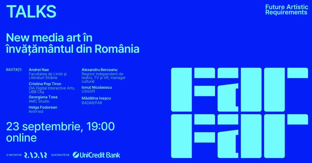 FAR Talks II – New media art în învățământul din România