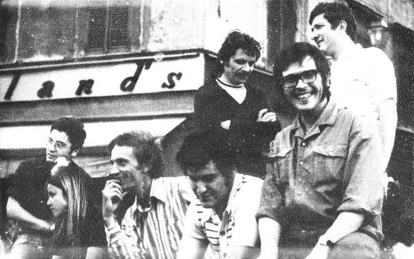 Ilie Boca, Horia Flamand, Anton Suteu și Dan Erceanu în excursie la Roma, 1974,