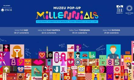 Prima ediție a Muzeului pop-up Generația Millennials va fi inaugurată în toamna acestui an în patru mari orașe din țară