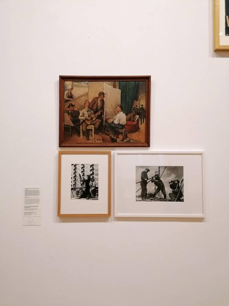 """Camil Ressu, """"În atelier (Baba face realism, Pallady pleacă indignat)"""", 1950, din colecția Muzeului Brăilei """"Carol I"""""""